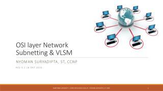 OSI layer Network  Subnetting  & VLSM