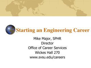 Starting an Engineering Career