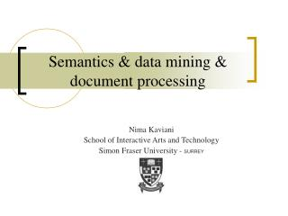 Semantics & data mining & document processing