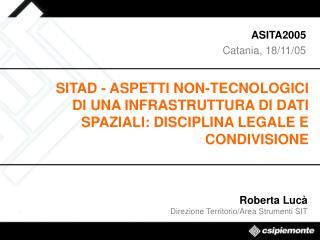 ASITA2005 Catania, 18/11/05