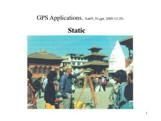 GPS Applications .  Sat05_91, 2005-12-29 .