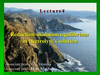 Reduction-oxidation equilibrium  in  electrolyte's solution