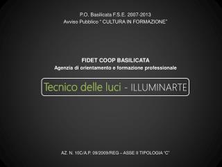 Tecnico delle luci - ILLUMINARTE