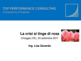 TOP PERFORMANCE CONSULTING Consulenza d'Impresa