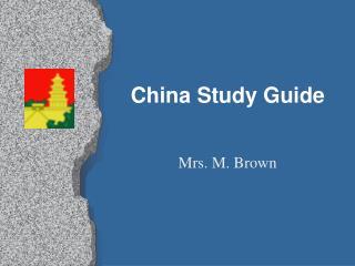China Study Guide