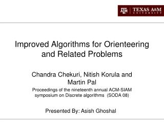 Improved Algorithms for Orienteering and Related Problems