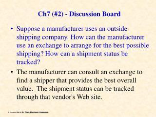 Ch7 (#2) - Discussion Board