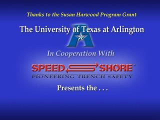 Thanks to the Susan Harwood Program Grant
