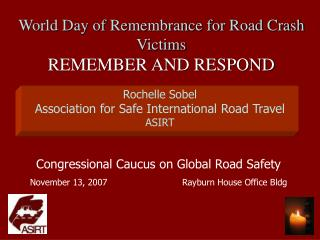 Congressional Caucus on Global Road Safety