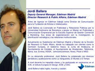 Jordi Ballera CV