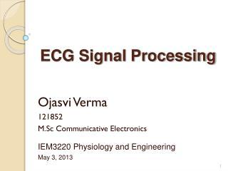 ECG Signal Processing