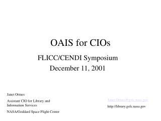 OAIS for CIOs