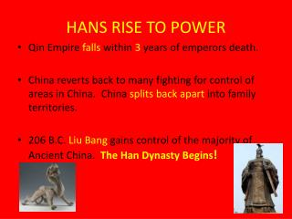 HANS RISE TO POWER