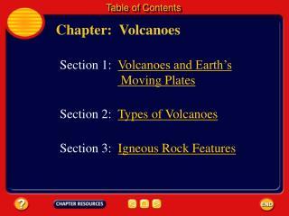 Chapter:  Volcanoes