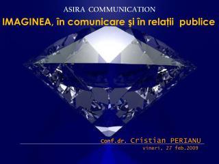 IMAGINEA, în comunicare şi în relaţii  publice