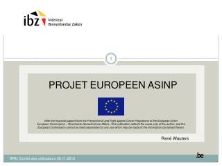 PROJET EUROPEEN ASINP