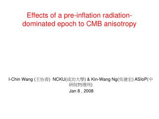 Effects of a pre-inflation radiation-dominated epoch to CMB anisotropy