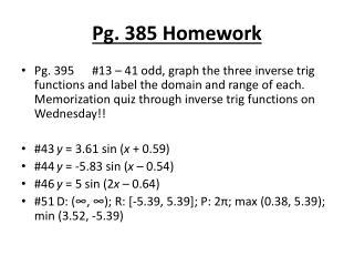 Pg. 385 Homework