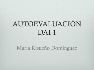 AUTOEVALUACI ÓN  DAI 1 María Risueño Domínguez