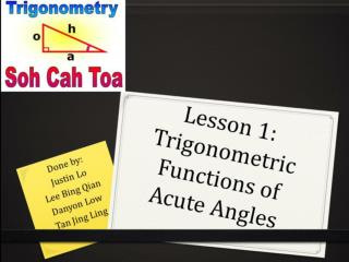 Lesson 1: Trigonometric Functions of Acute Angles