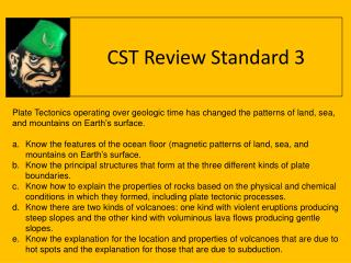 CST Review Standard 3