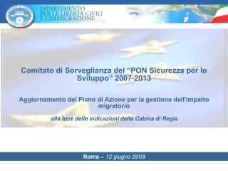 Roma –  12 giugno 2009