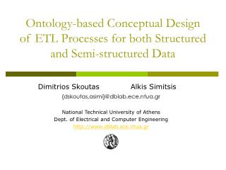 Ontology-based Conceptual Design of ETL Processes for both Structured and Semi-structured Data