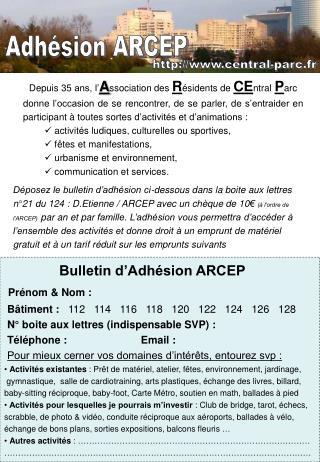 Depuis  35  ans, l' A ssociation des  R ésidents de  CE ntral P arc