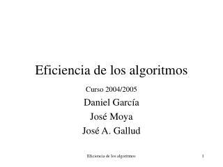 Eficiencia de los algoritmos