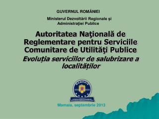 Autoritatea Naţională de Reglementare pentru Serviciile Comunitare de Utilităţi Publice