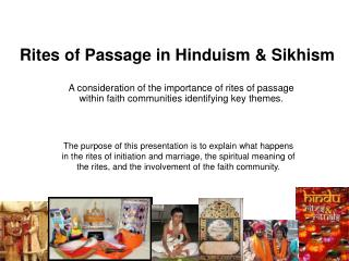 Rites of Passage in Hinduism & Sikhism