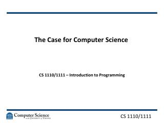 The Case for Computer Science
