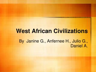 West African Civilizations