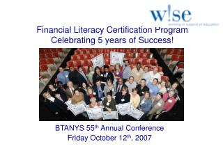 Financial Literacy Certification Program Celebrating 5 years of Success