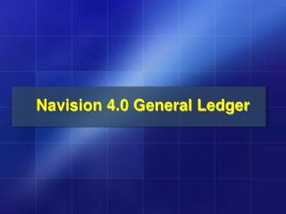 Navision 4.0 General Ledger