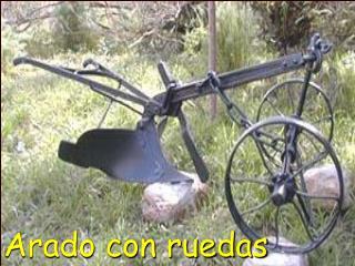 Arado con ruedas