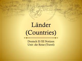 Länder (Countries)