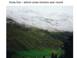 Snow line – where snow remains year round