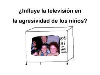 ¿Influye la televisión en  la agresividad de los niños?