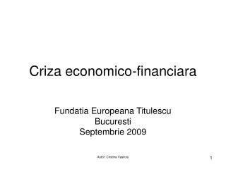 Criza economico-financiara