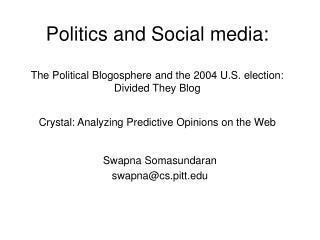 Politics and Social media: