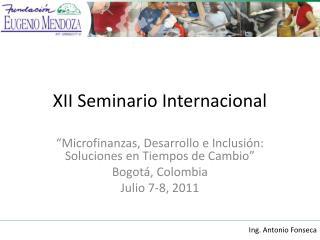 XII Seminario Internacional