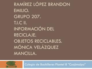 """Colegio de Bachilleres Plantel 8 """"Cuajimalpa"""""""