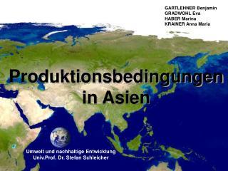 Produktionsbedingungen in Asien