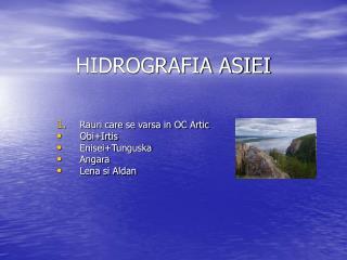 HIDROGRAFIA ASIEI