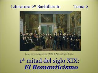 Literatura 2º Bachillerato Tema 2