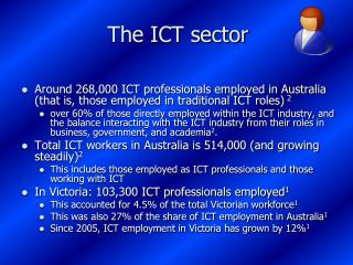 The ICT sector