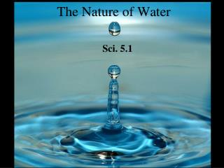The Nature of Water