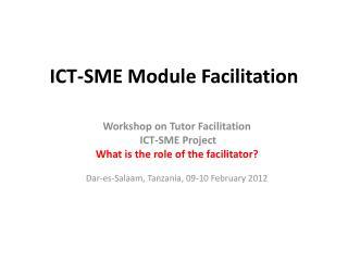 ICT-SME Module Facilitation