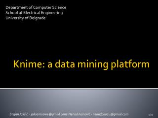 Knime: a data mining platform